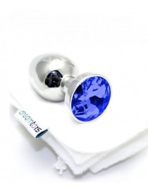 Stainless Steel Jewel Plug Blue Sapphire - Small